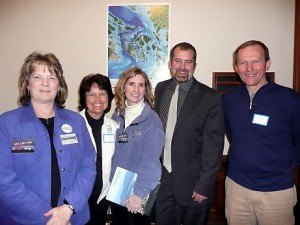 Left to Right – Robin Jacobson, Carol Kulminski, Deborah Hopkins, Sen. Kevin Ranker, Bogdan Kulminski