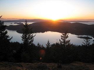 Sunset from Turtleback Mountain, by Jennifer Johnson-Fralick