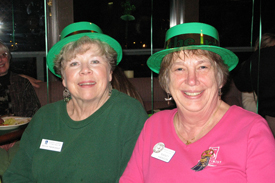 Soroptimists Bonnie Hendrickson and Nancy Hanson at last year's shindig....