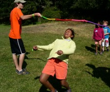 Limbo is one of the many fun activities kids partake in...