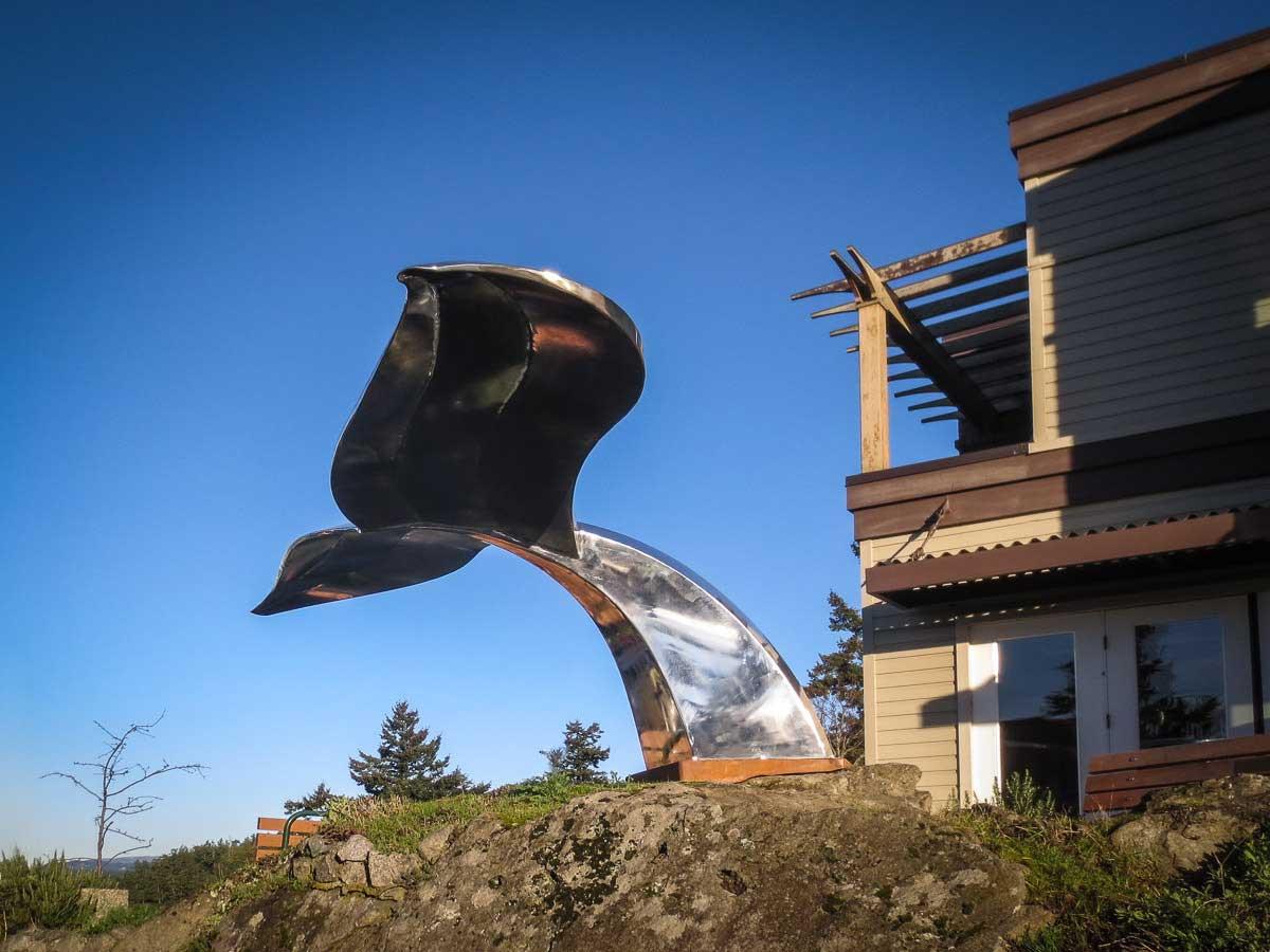"""Fluke"" sculpture by Micajah Bienvenu - Tim Dustrude photo"