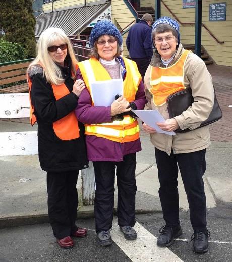 L - R: Jill Johnson, Ann Jarrell and Louisa Nishitani - John Dustrude Photo