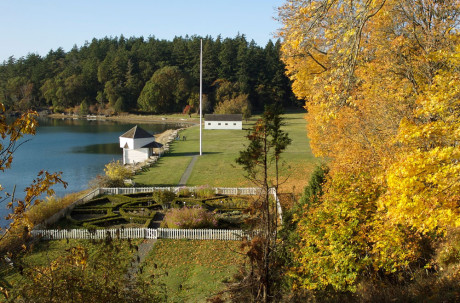 Formal garden, parade ground and blockhouse at English Camp - Tim Dustrude photo