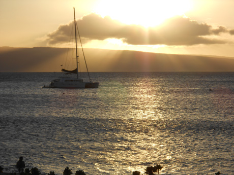 Sunsets every night (Lahaina faces west....) were an ongoing reminder of a warm evening ahead of music & friends & night waks....