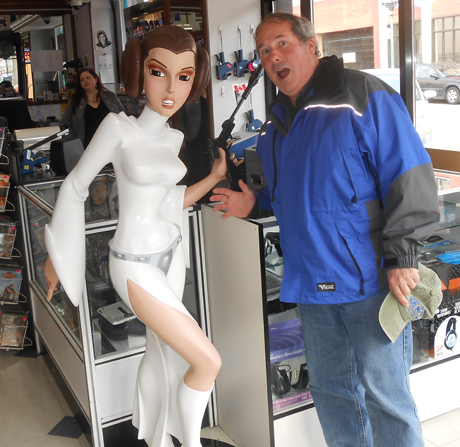 It was fun to run into Princess Leia at a used DVD shop downtown.... photo by NASA photo contributor Josie Byington.