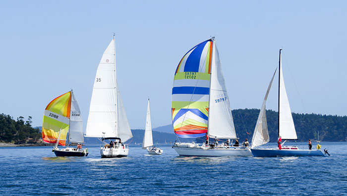 Sailboats racing in the 2013 Shaw Island Classic - Contributed photo