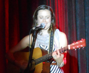 That's Caroline from the Good Lovelies, playing in Victoria last week....