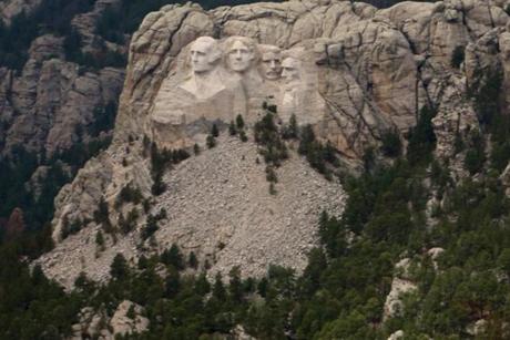 Darryl flew by Mount Rushmore three weeks ago