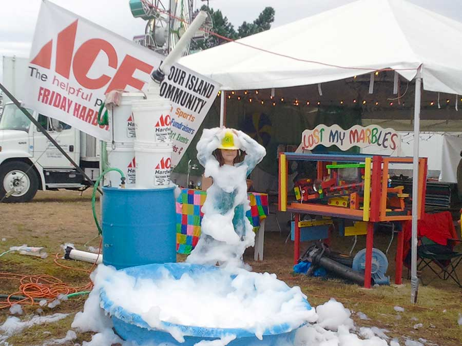 Here's a great shot of a girl covered in suds at the Fair - Kevin Holmes photo
