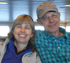 How cool is that? We caught up with Wendy & Carl on the way to camping on Vancouver Island.....