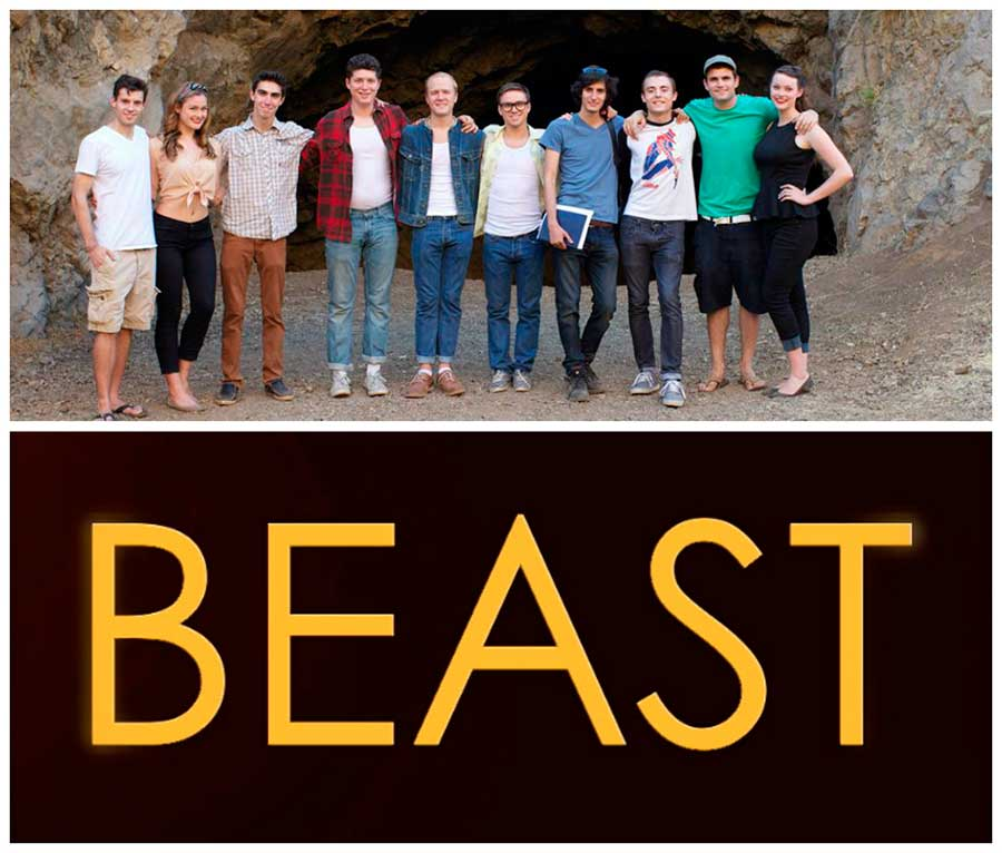 "Cast and crew of the production of ""Beast"" - Click for larger version"