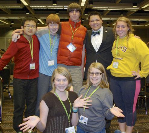 Lucas Gao, Zach Fincher, Per Black, Teddy McCullough, Sammy Finch, Madrona Jameson and Rachel May - Debbi Fincher photo