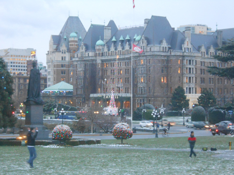Looking at The Empress across the Legislature's Lawn, during the Great Blizzard of 2013. You almost certainly have more frost in your freezer.