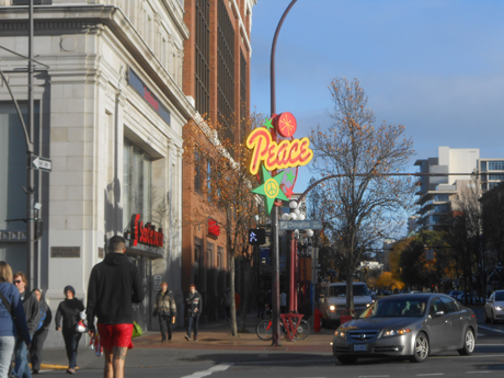 Peace & season's greetings from Government Street in downtown Victoria. Photo by Ian Byington.