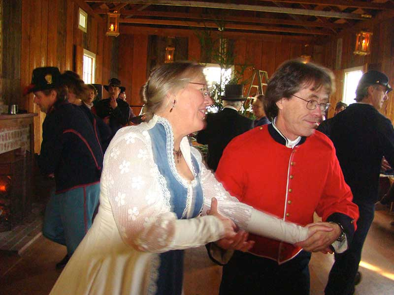 Francis and Rebecca Smith cut a rug during contra dancing at a recent Holiday Social