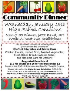 Community Dinner next Wednesday