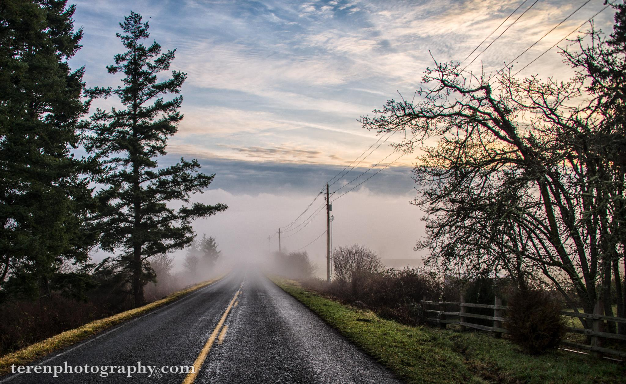 """Vanishing Point"", Bailer Hill fog by Chris Teren"