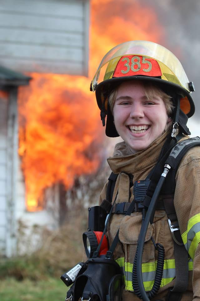 Lenora Johnson is this month's volunteer firefighter -