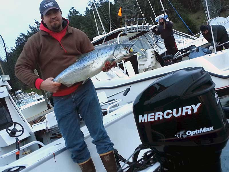 Not only did Andy Holman win the $10,000 first prize and the new-this-year $1,000 Friday Prize, he also got the Mercury Outboard prize - Contributed photo