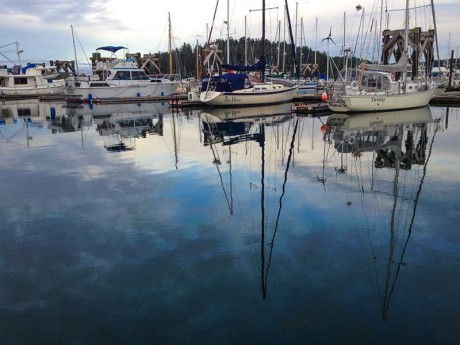 Boats moored at the Port of Friday Harbor Marina - Update file photo