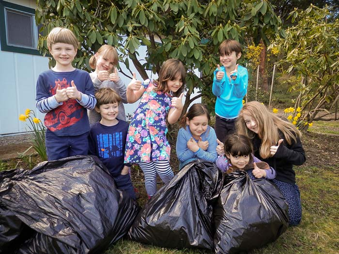 Stillpoint School Cleans Up - Contributed photo