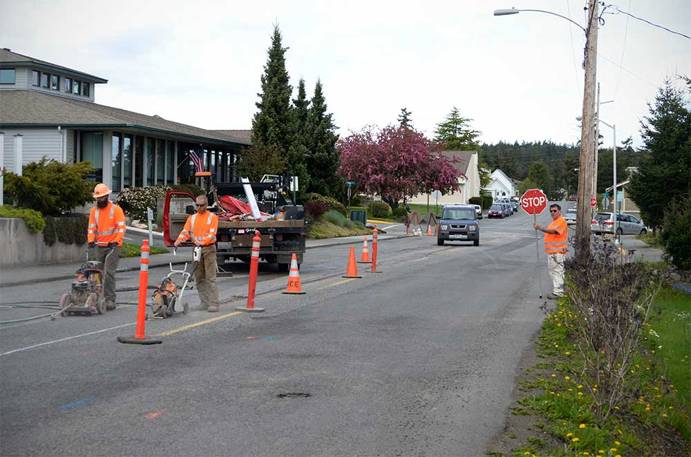 Beginning work on sewer line replacement - Update staff photo