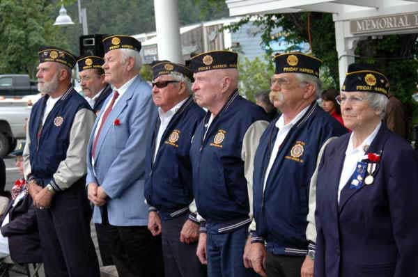 Proud Veterans stand in honor of service - Minnie Knych photo