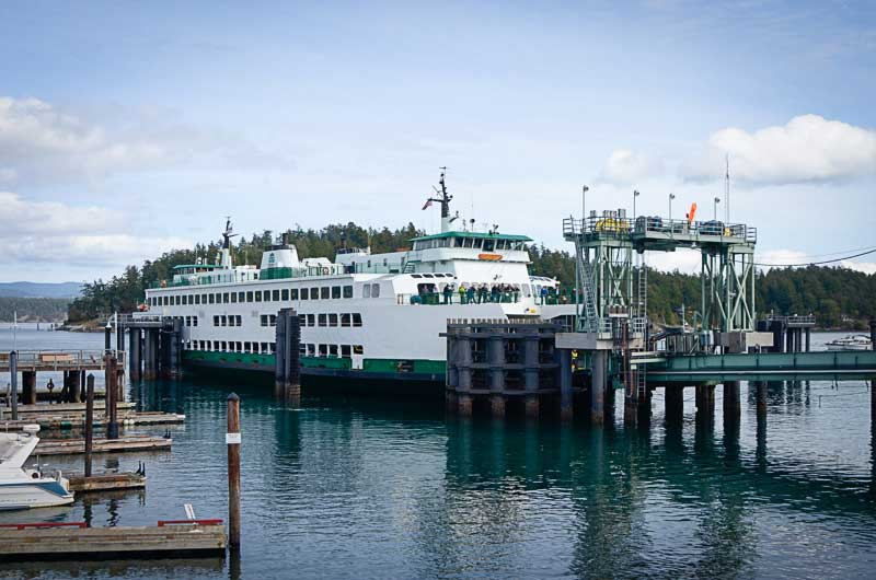 Ferry at dock in Friday Harbor - San Juan Update photo
