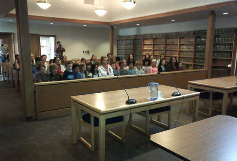 4th Graders in Court - Contributed photo