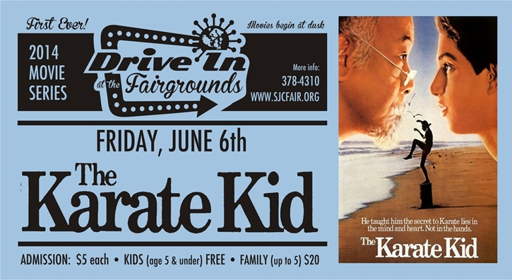 Karate Kid tonight at the Drive-In - Click to enlarge