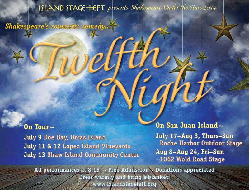 Opening night of Shakespeare Under the Stars - Click to enlarge poster
