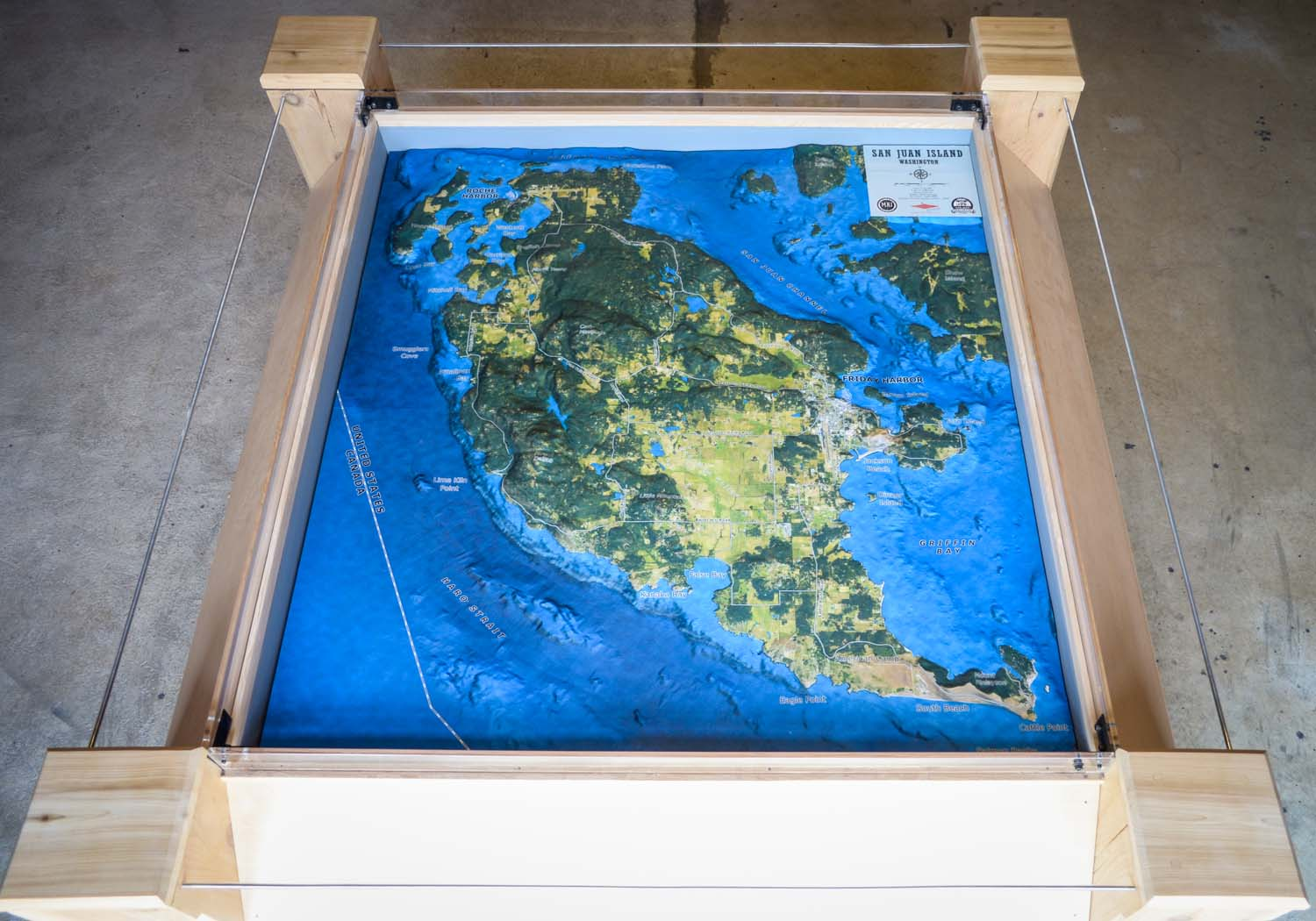 The new to-scale relief map of San Juan Island at the SJ Historical Museum - San Juan Update photo