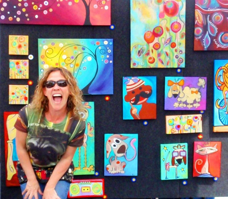 Carla and her funky art - Contributed photo