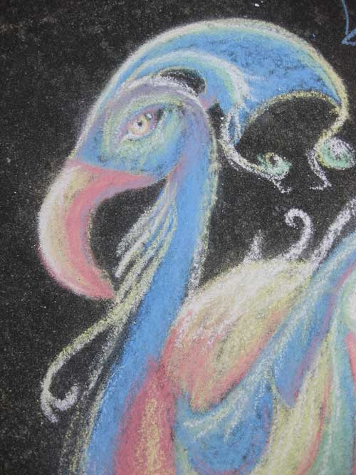 Chalk sidewalk art - Click to enlarge - Contributed photo