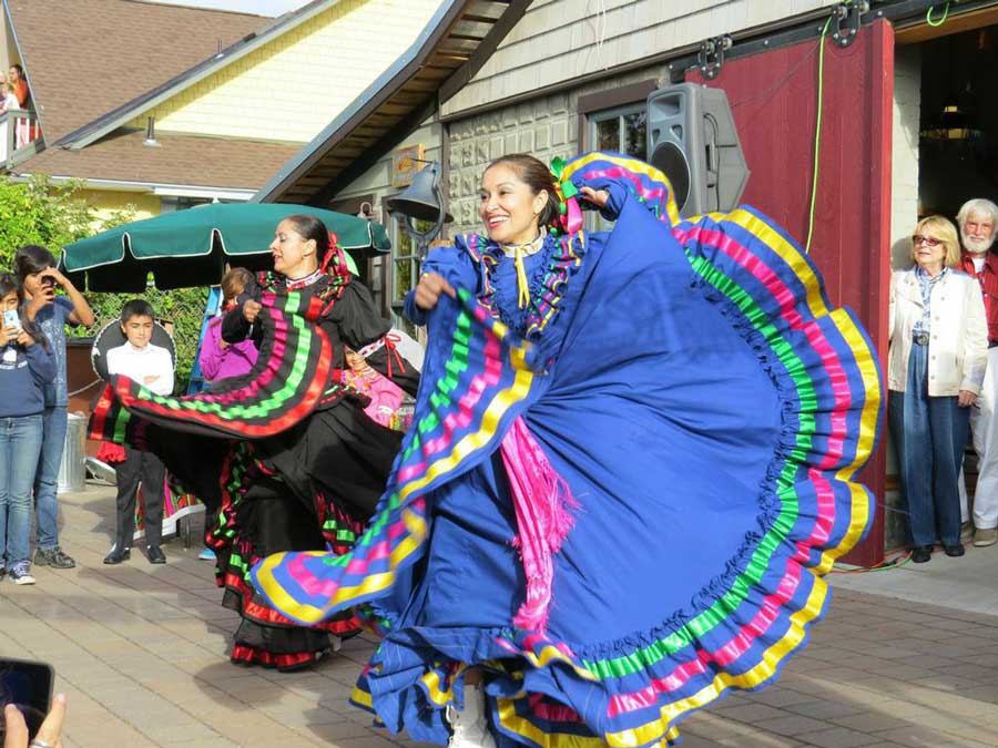 The Folklorico Ballet dancers entertain - Click to enlarge - Contributed photo