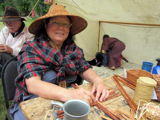 Judy Bridges Demonstrates Weaving - Contributed Photo