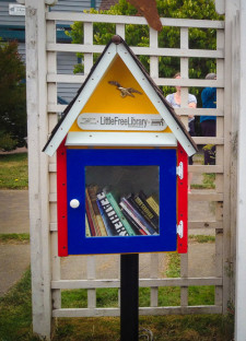 A Little Free Library at The Barking Bird - Click to enlarge - SJ Update photo