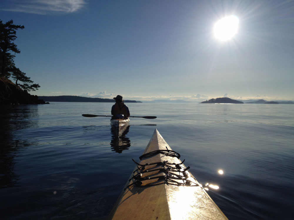 Paddling around Jones Island - Click to enlarge - Shannon Dean photo