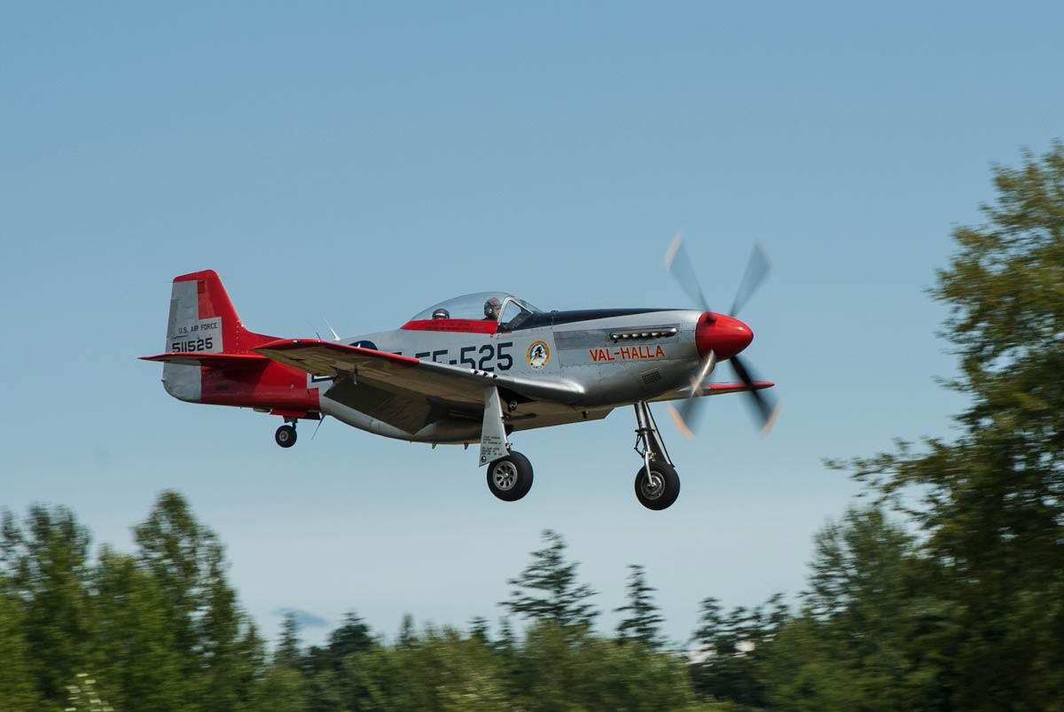 P-51D Mustang at the 2012 Show in Friday Harbor - Click to enlarge - Tim Dustrude photo