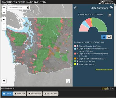 State Unveils New Online Map of Public Lands in Washington