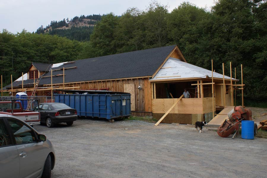 Artworks building restoration. Progress of the cafe area as of August 12th - Photo by Patsy Stephens, OSC President