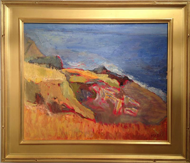 "Nancy Maron is showing her Original Acrylic paintings of ""Island Scenes"" at Gallery 9"