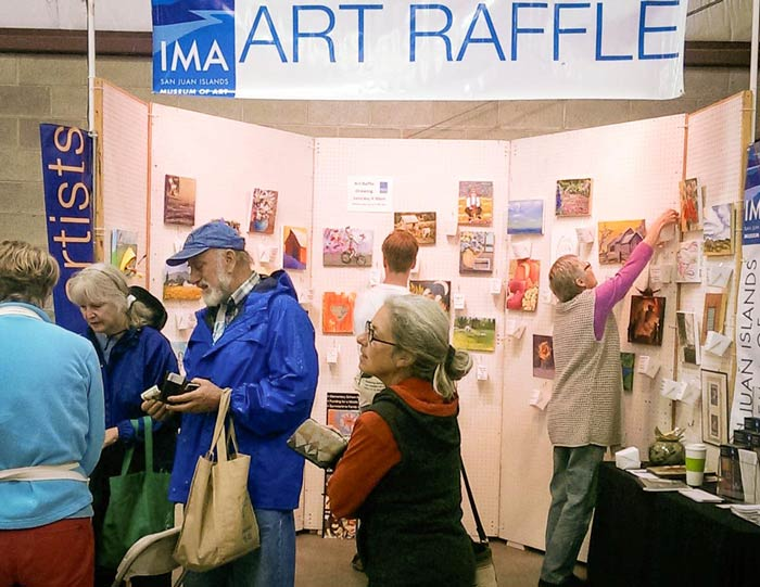 IMA Art Raffle booth - Contributed photo
