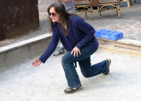 Kim Fitts Playing Bocce - Contributed Photo
