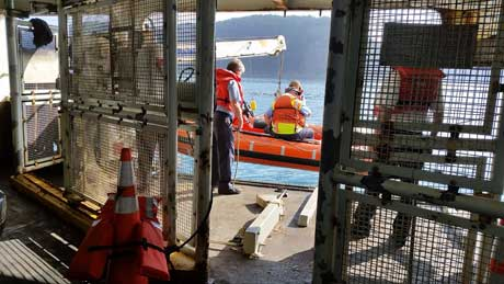Ferry Crew Drill - Photo by Ruth Offen
