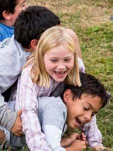 Kids Pile at Island Rec's 30th Anniversary - Contributed Photo