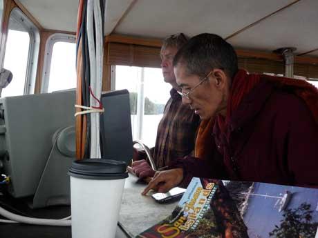 Lama Khenpo Pema Wangdak On Board with John Soderberg - Contributed Photo