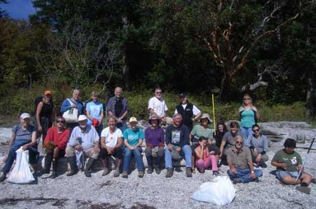 Volunteer Work Crew on Sucia - Contributed Photo