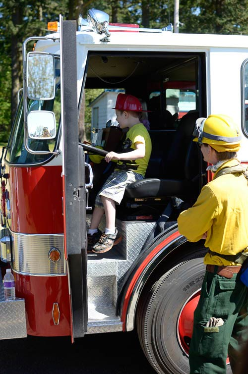 Playing with a real fire truck - San Juan Update photo