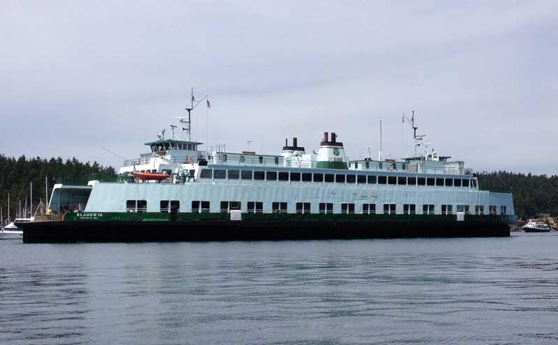 Washington State Ferry M/V Klahowya entering Friday Harbor - Louise Dustrude photo